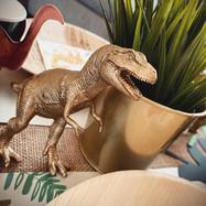 Gold dinosaur accessories!