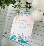 Enchanted Fairyland birthday sign