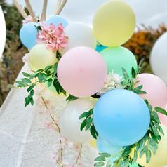 Easter pastel balloon garland