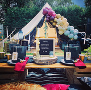 Harry Potter bell tent and picnic