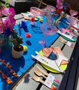 Llama Fiesta table set up