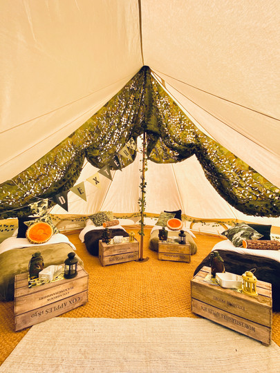 Base Camp bell tent - inside