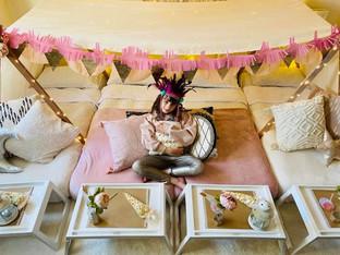 Tribal Princess space-saver family tent