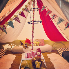 Vintage Circus lounge tent