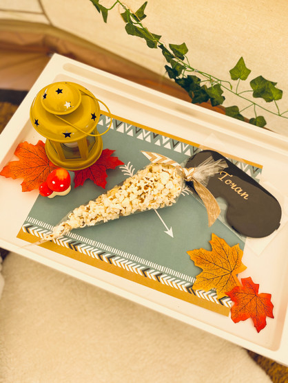 Woodland Adventure bell tent - tray with
