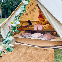 Pink Princess bell tent - DAY HIRE