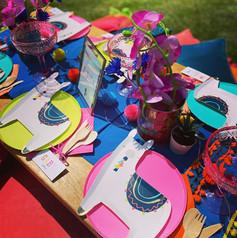 Llama Fiesta picnic