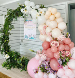 Enchanted Fairyland moongate with super-luxe balloon garland