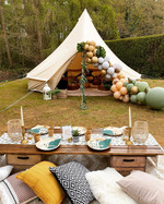 Glam Safari bell tent + picnic