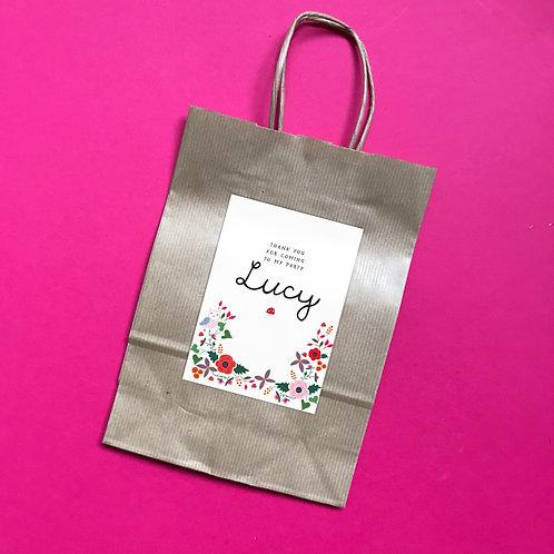 ENCHANTED WOODLAND - party bag