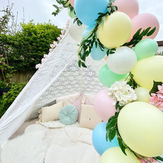 Easter lace teepee