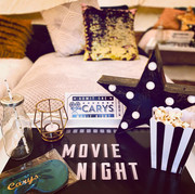Vintage Movies bedside table
