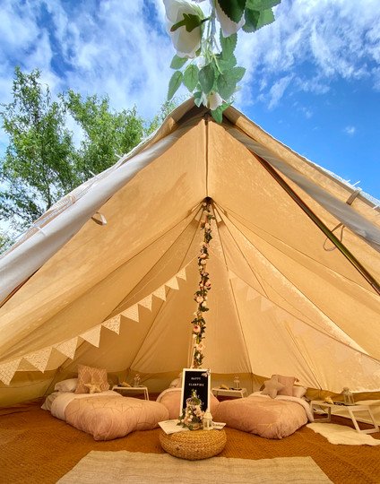 Pink Floral bell tent