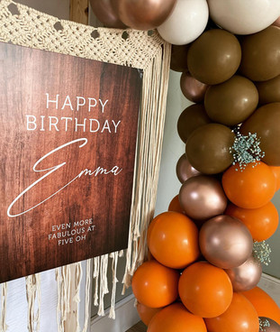 Ibiza Vibes birthday frame and sign
