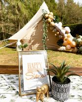 Glam Safari - birthday table sign