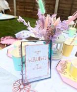 Pastel birthday sign