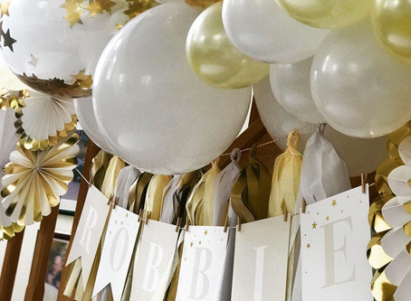 Ivory, white a gold for a beautiful Christening