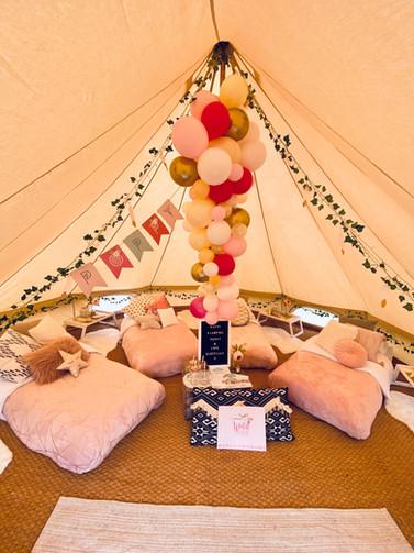 Tribal Princess GOLD bell tent