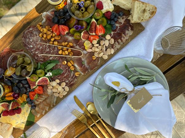 Romantic picnic + grazing board