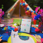 Llama Fiesta picnic and bell tent