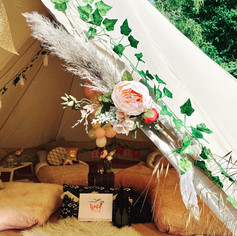 Bell tent entrance