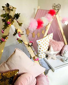 Pink + Gold sleepover