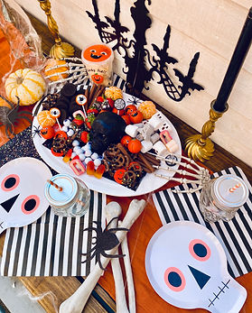 Halloween luxe picnic and grazing board