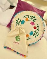 Llama Fiesta embroidered goodie bag