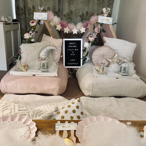 Sweet Dreams sleepover + picnic for 2