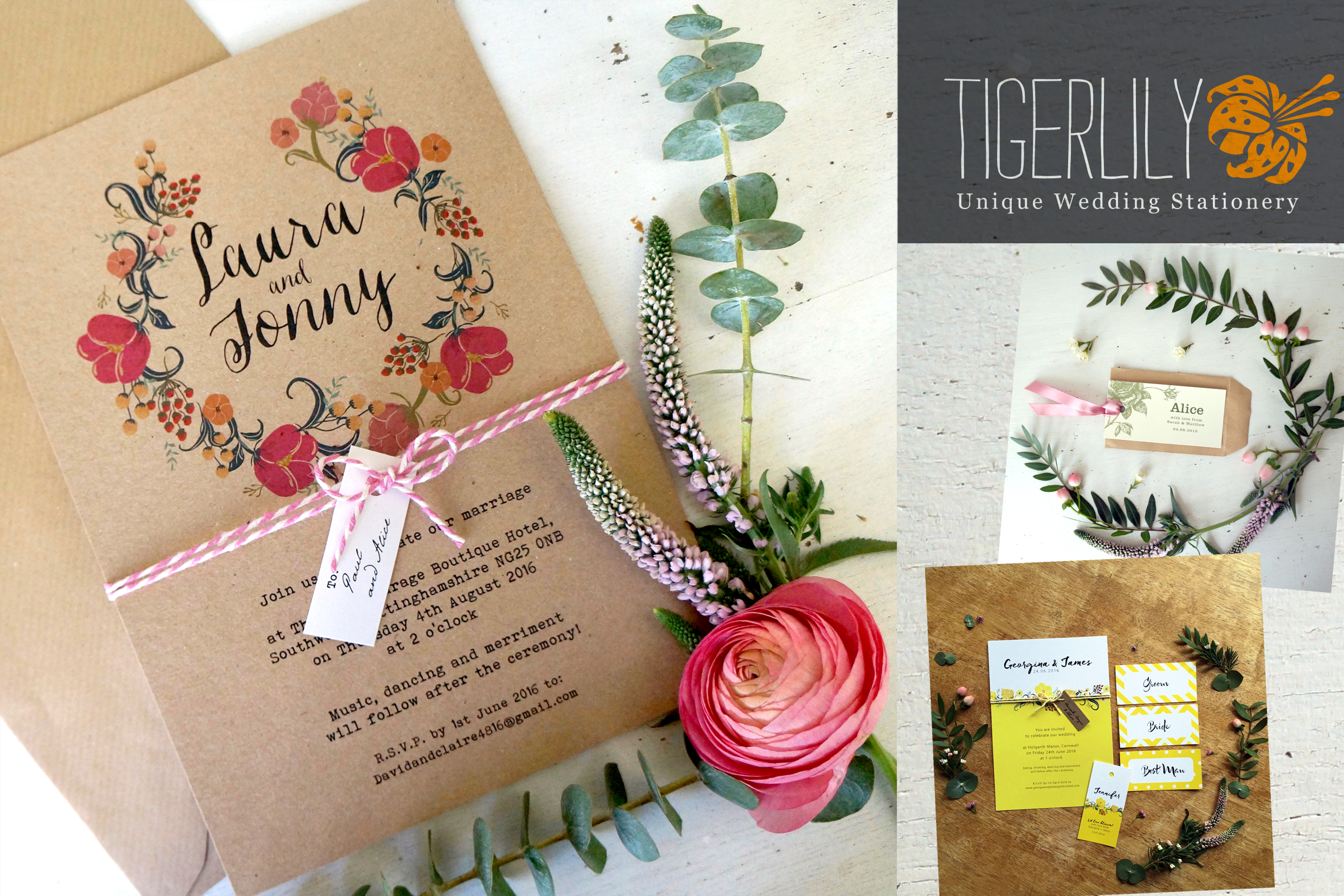 Tigerlily Wedding Stationery