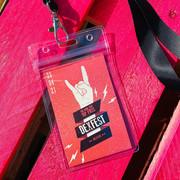 Festival theme - personalised VIP lanyar