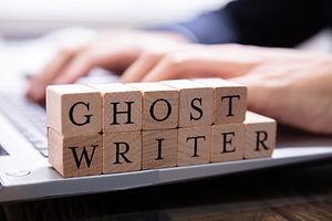 Ghostwriter Wooden Block On Computer Key