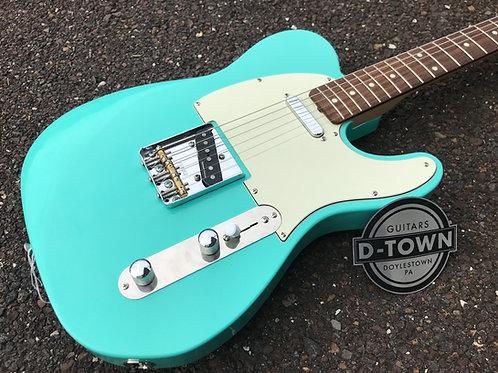 D-Town Custom Contour Tele T Style Guitar Seafoam Green
