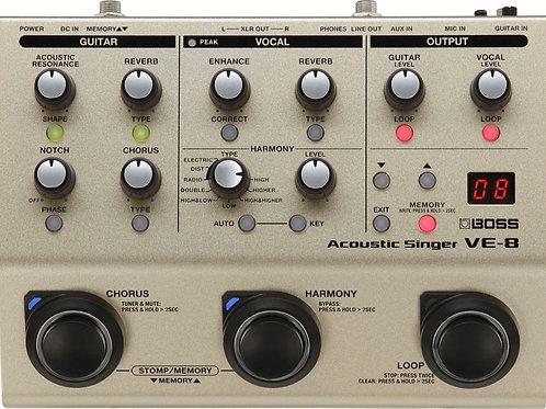 BOSS VE-8 Acoustic Singer Vocal Effects Pedal