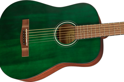 Fender FA-15 3/4 Size Steel-String Acoustic Guitar Green with Gig Bag