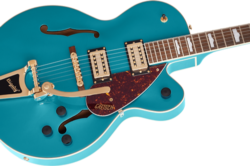 Gretsch G2410TG Streamliner Hollow Body Single-Cut with Bigsby, Ocean Turquoise