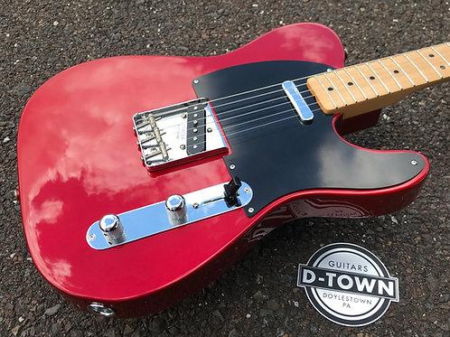 Custom Built Fender Parts Blackguard Telecaster Candy Apple Red