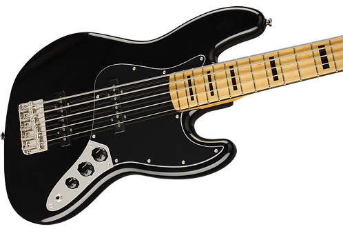 Squier Classic Vibe '70s Jazz Bass V Five String Maple Fingerboard Black