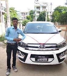 Innova Crysta on rent in Patna.