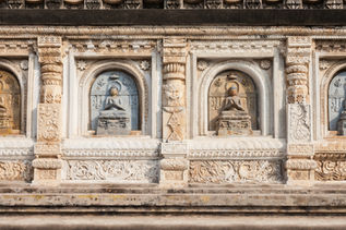 A view of Mahabodhi Temple of Bodhgaya.