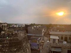 Sunset view from Darbhanga maharaj Fort in Darbhanga