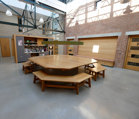 Central table in communal area