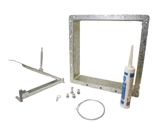 Ground operated lid lifter parts
