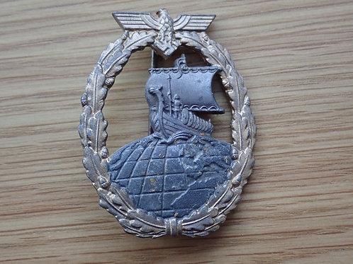 Naval Auxiliary Cruisers War Badge 1941