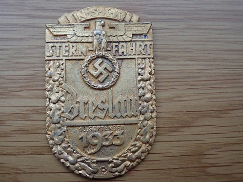 N.S.K.K STERN FAHRT BRESLAN 10 SEP 1933 SILVER AWARD.