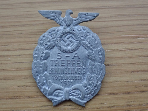 S.A Ralley Brunswick 1931Badge of Honour