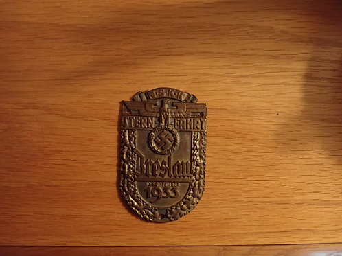N.S.K.K FAHRT. BRESLAN 19 SEP. 1933 BRONZE AWARD