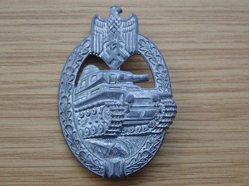Silver Tank Badge.