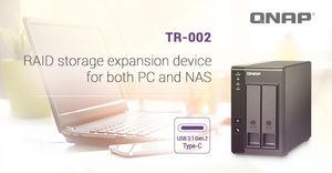 QNAP Unveils the TR-002 - a 2-bay RAID Expansion Enclosure