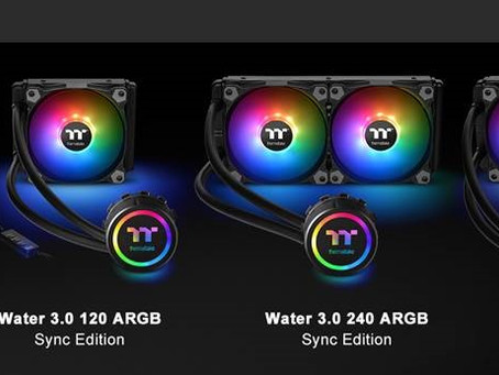 Thermaltake New All-In-One Liquid Cooling Solution  The Water 3.0 ARGB Sync Edition Series at CES 20
